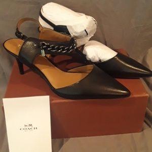 Coach Garland  BLACK  heels